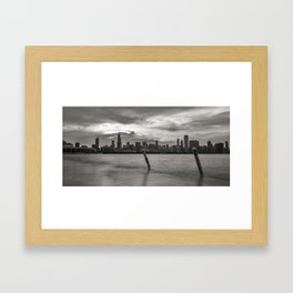 Smoothing out the Lake Framed Art Print