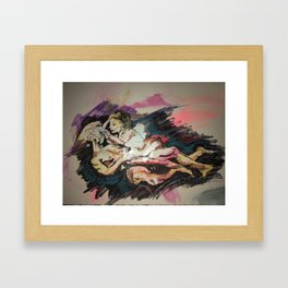 Aura Galaxy Love Framed Art Print