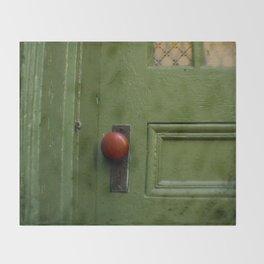 The Red Doorknob Throw Blanket