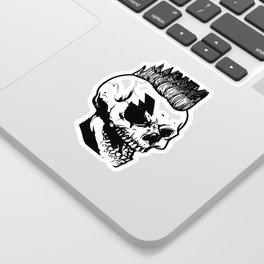 Anarchist skull art, custom gift design Sticker