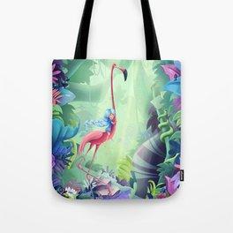 Girl & Flamingo Tote Bag