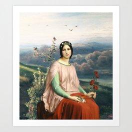 Lady of the Fields Art Print