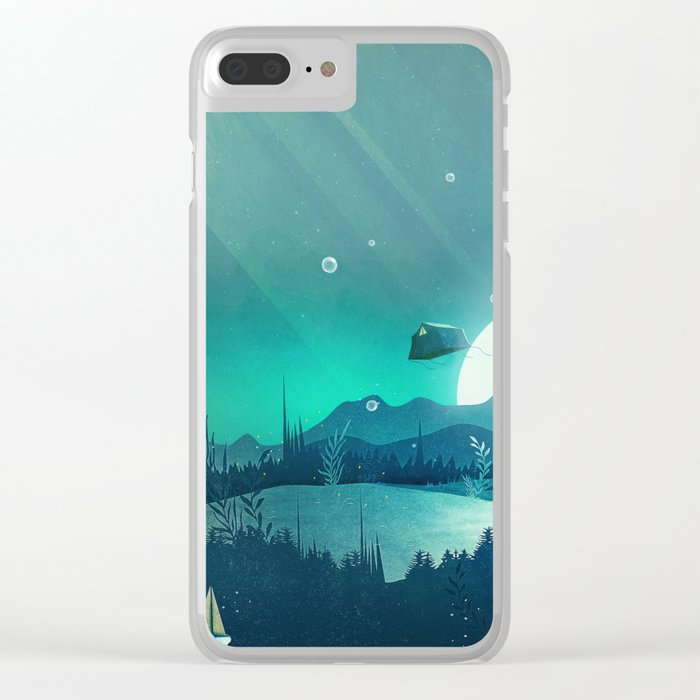 Beneath Barafundle Clear iPhone Case