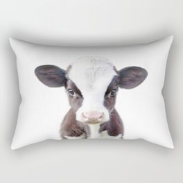 Baby Cow Portrait Rectangular Pillow