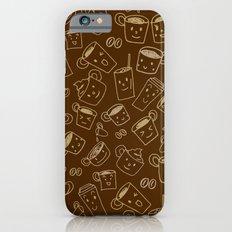 Coffee illustration pattern iPhone 6s Slim Case
