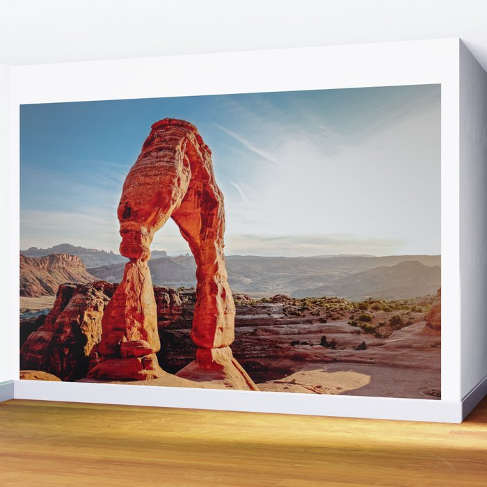 Delicate Arch, Arches National Park at Afternoon Wall Mural
