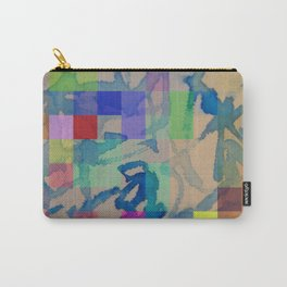 Watercolour-Pixel-Painting Carry-All Pouch