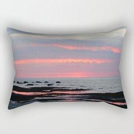 Texture Filled Clouds Rectangular Pillow