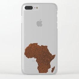 Africa DNA Thumbprint flag. Africa pride design for African design Clear iPhone Case