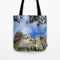 rushmore Tote Bags featuring Mount Rushmore by Christiane W. Schulze Art and Photograph