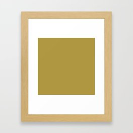 Golden Olive Framed Art Print