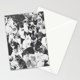 Cats Forever B&W Stationery Cards