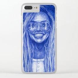 Braid Girl Clear iPhone Case