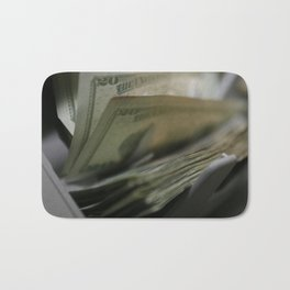 Money Counting Machine Photograph Bath Mat