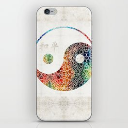 Yin And Yang - Colorful Peace - By Sharon Cummings iPhone Skin