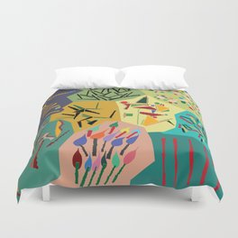 collage play Duvet Cover
