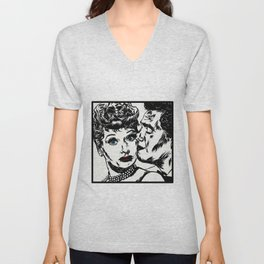 Lucy and Desi Unisex V-Neck
