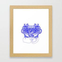 Vegetal Human Anatomy  Framed Art Print