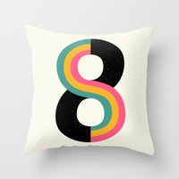 physics Throw Pillows featuring Infinity by Andy Westface