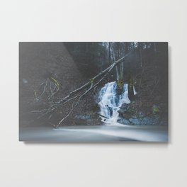 Emerging waterfall after the flood Metal Print