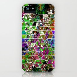 cascading interlocked box abstract  iPhone Case