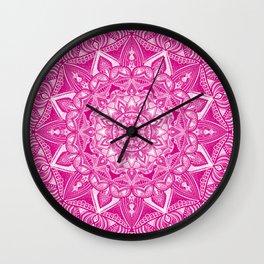 Pink Madala Pattern Wall Clock