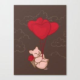 Piggy ride Canvas Print