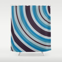 Blue, white and purple Shower Curtain