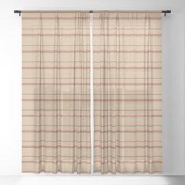Sherwin Williams Cavern Clay Warm Terra Cotta SW 7701 Horizontal Line Patterns 3 on Ligonier Tan SW Sheer Curtain