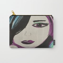 Dreamer. Original Painting by Jodilynpaintings. Figurative Abstract Pop Art. Carry-All Pouch