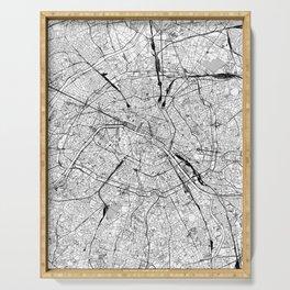 Paris White Map Serving Tray