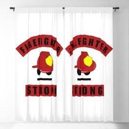 Firefighter Strong Proud Firefighter Hero Blackout Curtain
