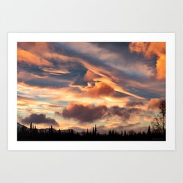 Good Morning Anchorage, Alaska Art Print