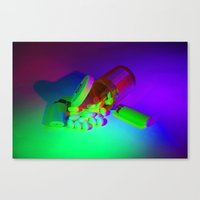 pills Canvas Prints featuring Pills by Mingo