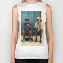 Two old Cuban men Biker Tank