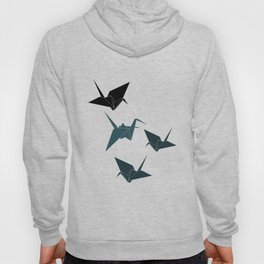 Blue origami cranes Hoody