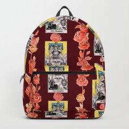 The Chariot - A Floral Tarot Pattern Backpack