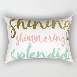 Shining shimmering splended Rectangular Pillow