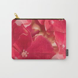Red hydrangea flowers #decor #society6 Carry-All Pouch