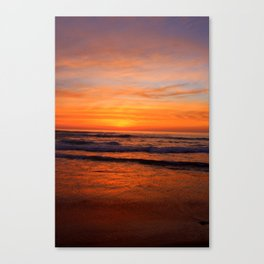 Scripps Pier - Orange Sunset Canvas Print