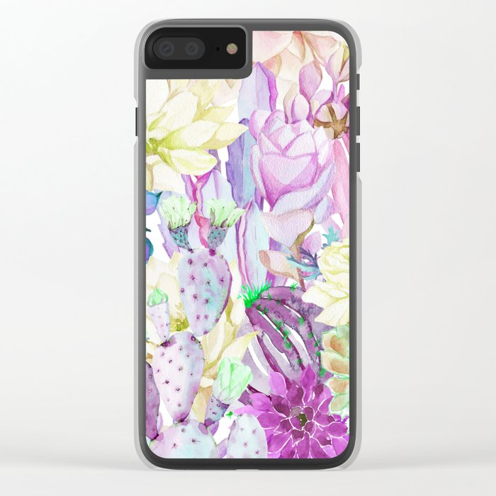 Lilac garden Clear iPhone Case