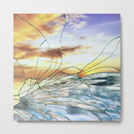 Broken Glass Metal Print