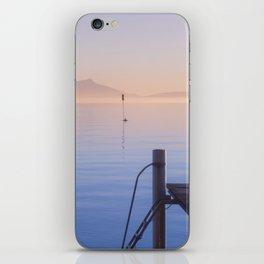 Peaceful Winter Sunset Over The Sea iPhone Skin