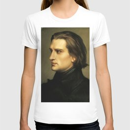 Franz Liszt (1811-1886) at 29. Painting by Charles Laurent Marechal (1801-1887). T-shirt