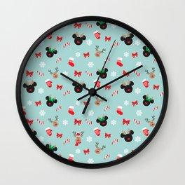 Christmas Reindeers Wall Clock