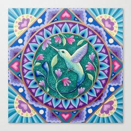 Hummingbird Mandala Canvas Print