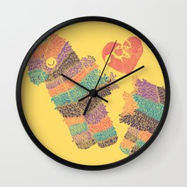 Piñatas Have Feelings Too Wall Clock