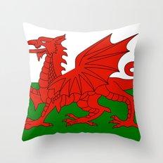Welsh national flag Throw Pillow