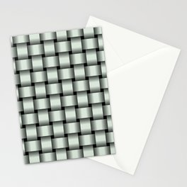 Pastel Green Weave Stationery Cards