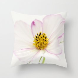 Sensation Cosmos White Bloom Throw Pillow